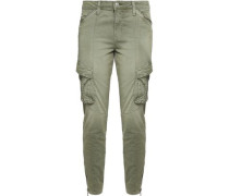 Stretch-cotton tapered pants
