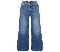 Cropped High-rise Wide-leg Jeans Mid Denim  7