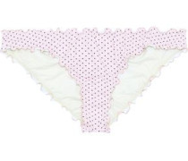 Dotty Sandy Printed Low-rise Bikini Briefs Midnight Blue