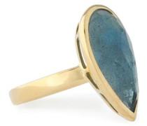 18-karat gold topaz ring