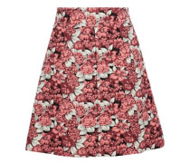 Daniela floral-jacquard mini skirt