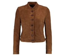 Marquita cropped suede jacket