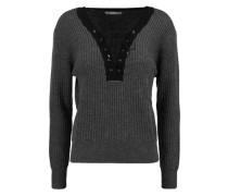 Amity lace-up ribbed merino wool sweater