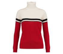 Vidos intarsia wool and cashmere-blend turtleneck sweater