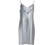 Cutout Chainmail Mini Dress Silver