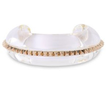 Woman Gold-tone Tortoiseshell Acetate Cuff Neutral