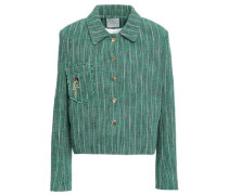 Embellished Tweed Jacket Green