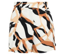 Printed Cady Shorts Off-white