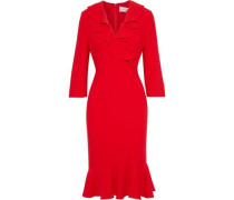 Wrap-effect Ruffled Crepe Dress Red Size 0