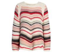 Striped Cotton Sweater White Size 1