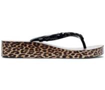 Embellished Pvc Sandals Black