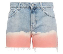 Tie-dye Denim Shorts Light Denim  7