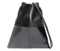 Ryan Mini Patchwork Leather And Suede Bucket Bag Black Size --