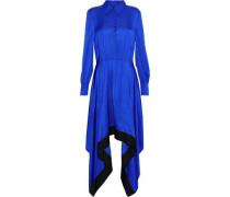 Abya draped satin shirt dress