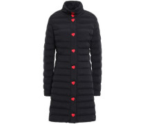 Quilted Shell Coat Black