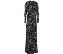 Diane Floral-print Silk-crepe Maxi Dress Black