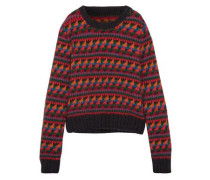 Wool-blend Jacquard Sweater Multicolor