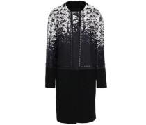 Paneled Silk-twill Coat Black