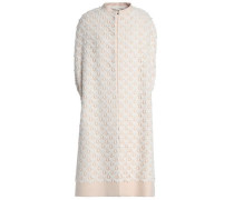 Cotton-blend lace and crepe coat