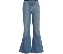 High-rise Flared Jeans Light Denim  4