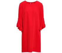Fernanda Ruffle-trimmed Cady Mini Dress Red