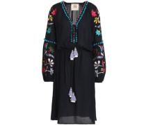 Victoria embellished cotton-blend gauze dress