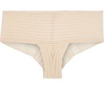Sweet Treats Shadow Stripe Stretch-lace Mid-rise Briefs Beige  /M