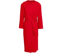Wool-blend Felt Coat Red