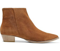Lynae Suede Ankle Boots Camel