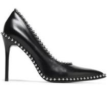 Studded Leather Pumps Black