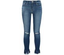 Lambeth Distressed Mid-rise Skinny Jeans Mid Denim  9