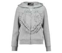 Ruffled cotton-blend jersey hooded sweatshirt