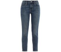 Studded Mid-rise Skinny Jeans Mid Denim  3