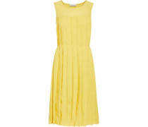 Pleated Linen Dress Yellow