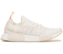 Woman Nmd R1 Stretch-knit Sneakers Ivory