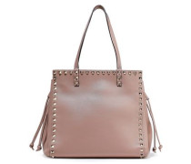 Rockstud Leather Tote Neutral Size --