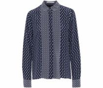 Angla printed silk crepe de chine shirt