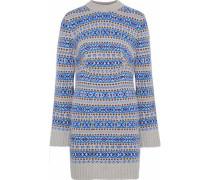 Wool-jacquard Mini Dress Stone