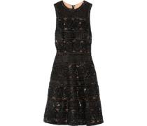 Embellished tulle mini dress