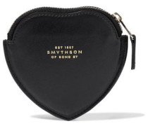 Panama Smooth And Textured-leather Coin Purse Black Size --
