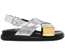Metallic Ayers Sandals Silver
