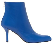 Woman Leather Ankle Boots Cobalt Blue