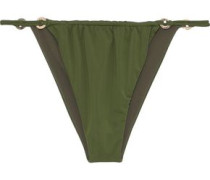 Xavier Low-rise Bikini Briefs Dark Green