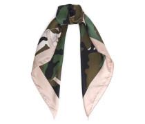 Camouflage silk-twill scarf