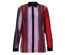 Fil coupé silk-blend chiffon shirt