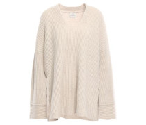 Nice Ribbed Cashmere Sweater Beige