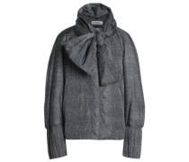 Bow-embellished shell jacket