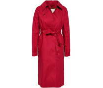 Belted Cotton Trench Coat Red Size 12