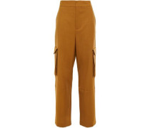 Woman Grain De Poudre Wool Wide-leg Pants Camel