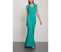 Fluted Textured-cady Gown Teal